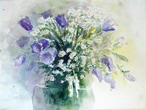 Aquarelle Blumenstrauß